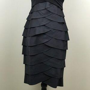 3dc795701c4 Adrianna Papell Dresses - Adrianna Papell V-Neck Black Tiered Dress